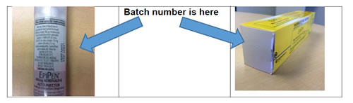 batch number on EpiPen 300