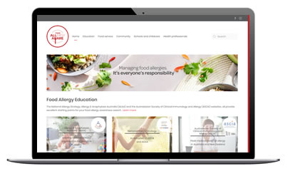 Food allergy aware website 2019