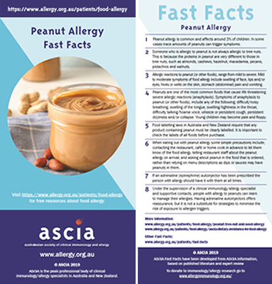 Fast Facts Peanut allergy