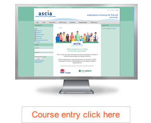 ASCIA anaphylaxis e-training first aid community