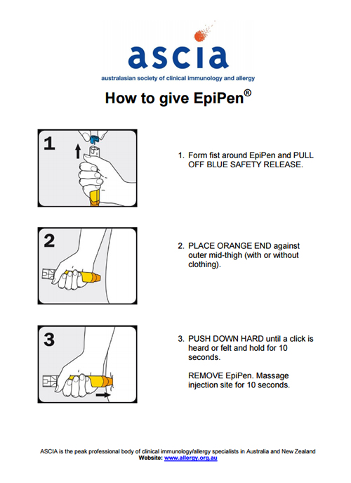 ASCIA How to give EpiPen