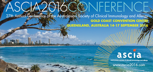 27th Annual Conference of ASCIA, 14-17 September 2016 Gold Coast Convention Centre