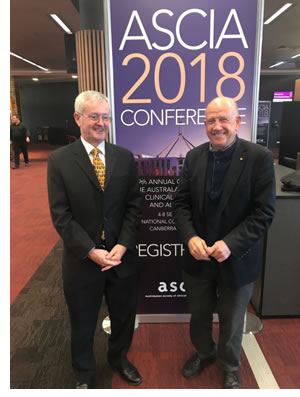 ASCIA 2018 Basten Orator Dr Ray Mullins and Prof Anthony Basten