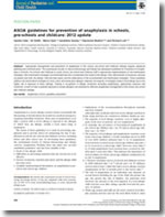 ASCIA guidelines for prevention of anaphylaxis in schools, pre-schools and childcare: 2012 update