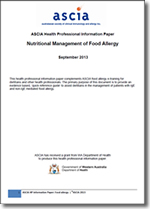 Nutritional Management of Food Allergy