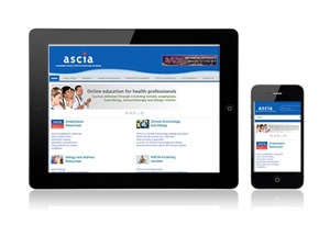 ASCIA website on pad phone