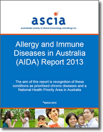 ASCIA Allergy and Immune Diseases in Australia (AIDA) Report